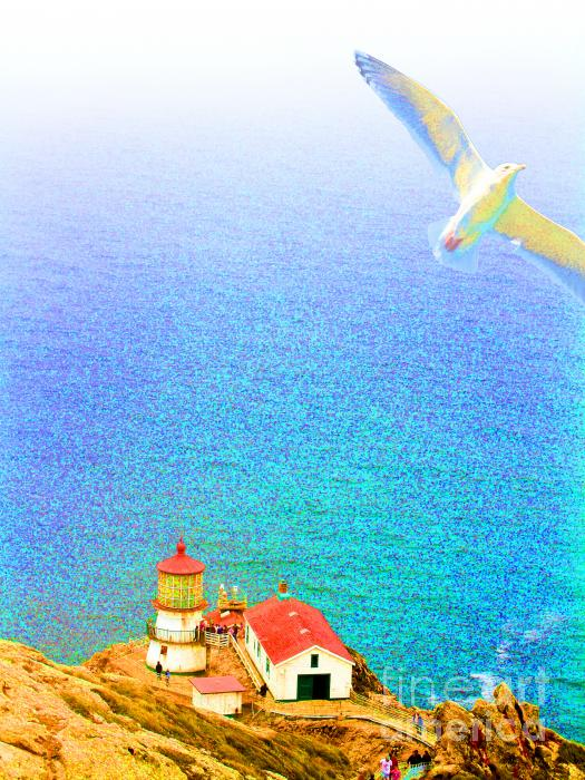 The Lighthouse Print by Wingsdomain Art and Photography