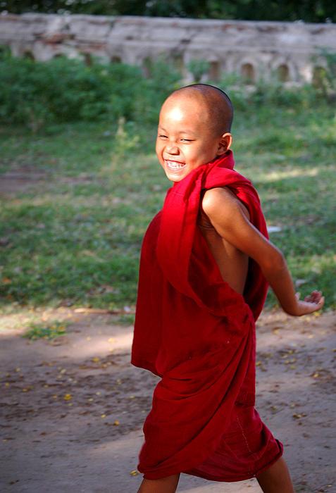 The Little Monk Of Mingun Print by RicardMN Photography