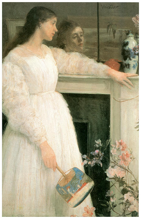 The Little White Girl Print by James Abbott McNeill Whistler