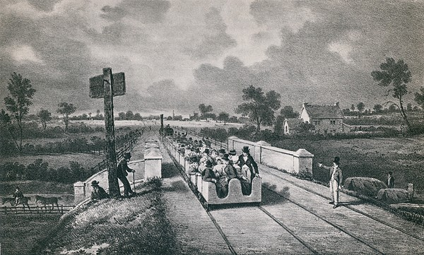 The Liverpool Manchester Railway Print by Everett