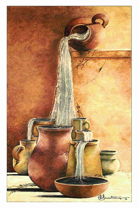 The Living Water Print by Denise Armstrong
