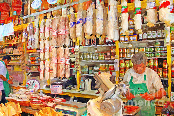 The Local Deli Print by Wingsdomain Art and Photography