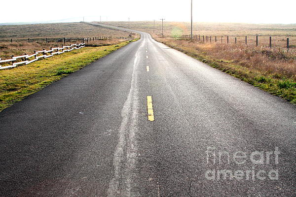 The Long Road Home . 7d9903 Print by Wingsdomain Art and Photography