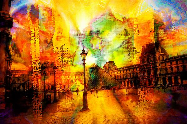 The Louvre Print by Carrie OBrien Sibley