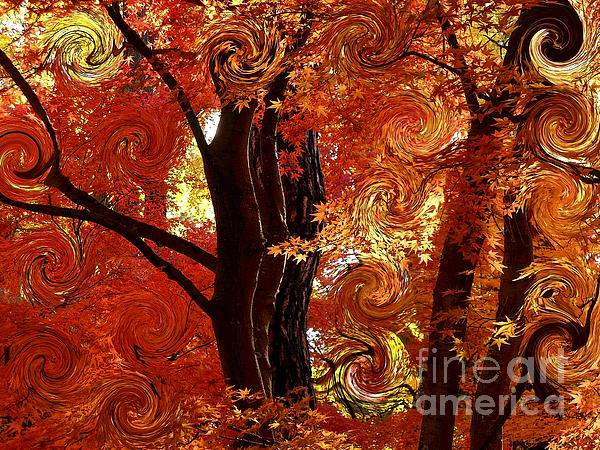 The Magic Of Autumn - Digital Abstract Print by Carol Groenen