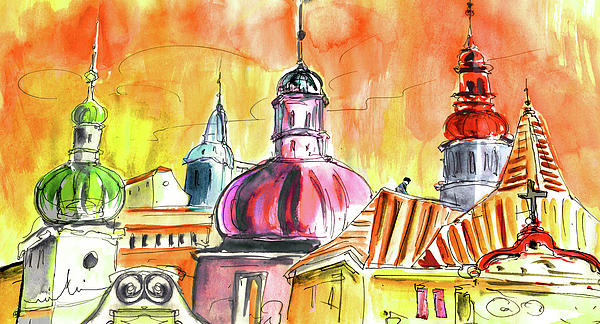 The Magical Roofs Of Prague 01 Bis Print by Miki De Goodaboom