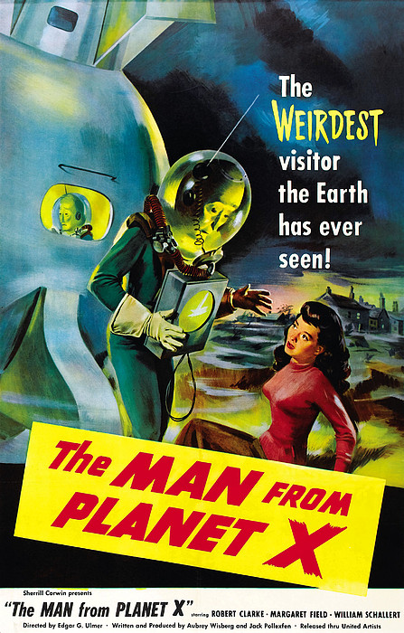 The Man From Planet X, Pat Goldin Print by Everett