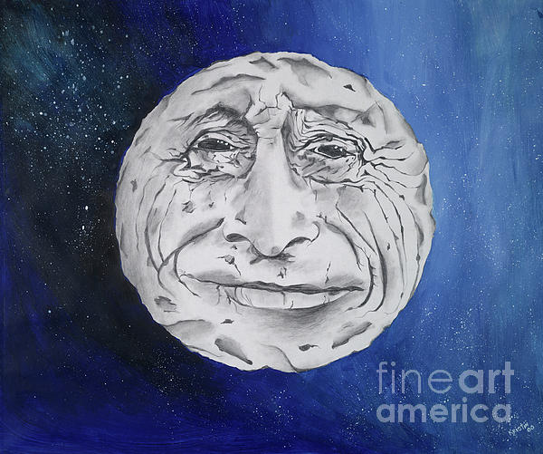 The Man In The Moon Painting  - The Man In The Moon Fine Art Print