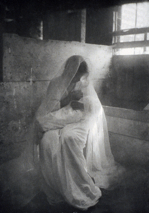 The Manger, By Gertrude Kasebier, Shows Print by Everett