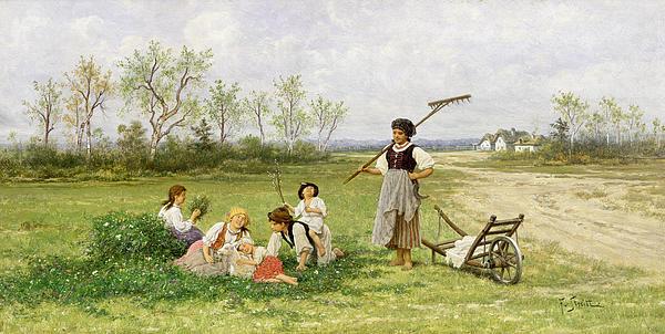 The Midday Rest Print by Franciszek Streitt
