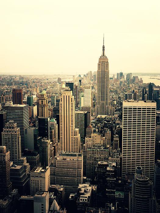 The New York City Skyline Print by Vivienne Gucwa