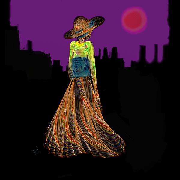 The Night With Kimono Print by Hayrettin Karaerkek