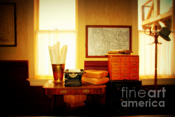 The Office Old Tuscon Arizona Print by Susanne Van Hulst