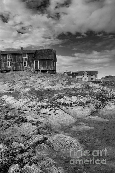 The Old Fisherman's Hut Bw Print by Heiko Koehrer-Wagner