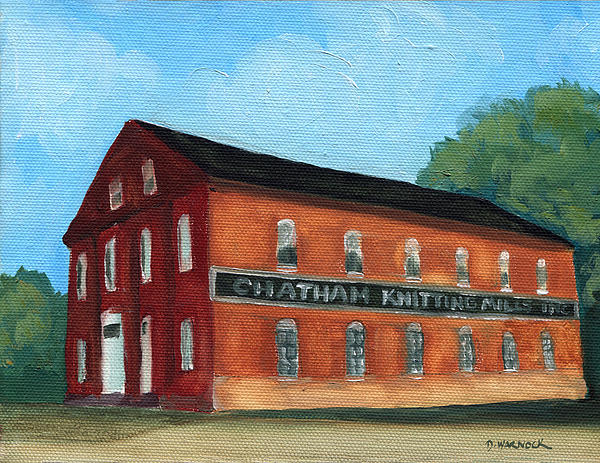The Old Knitting Mill Print by Debbie Warnock