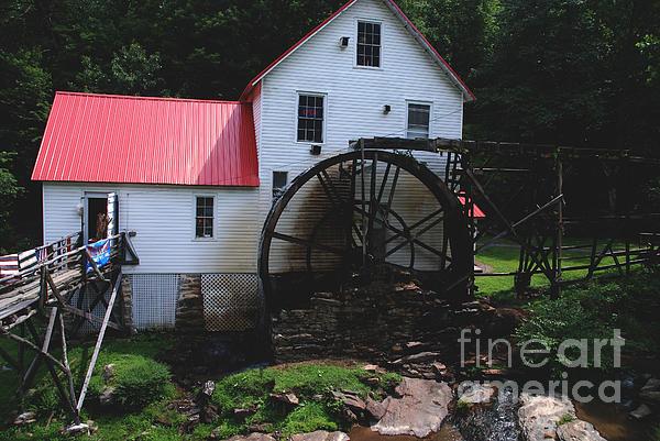 The Old Mill 1886 In Cherokee North Carolina Print by Susanne Van Hulst