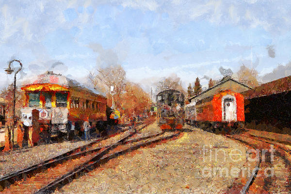 The Old Sacramento Central Train Depot . 7d11513 Print by Wingsdomain Art and Photography