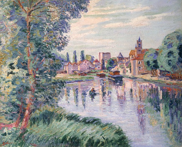 The Old Samois Print by Jean Baptiste Armand Guillaumin