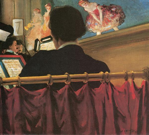 The Orchestra Pit Print by Everett Shinn