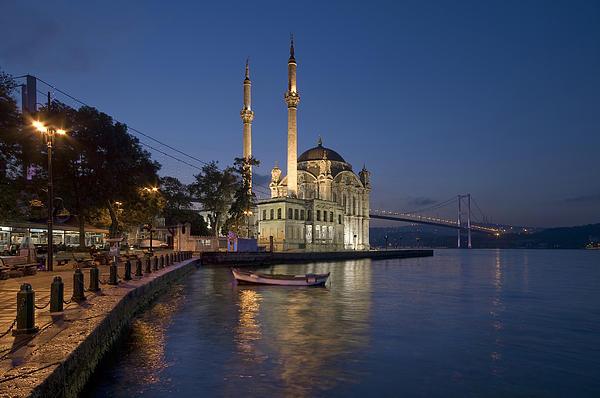 Ayhan Altun - The Ortakoy Mosque and Bosphorus Bridge at dusk
