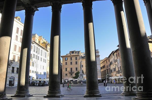The Pantheon . Piazza Della Rotonda. Rome Print by Bernard Jaubert