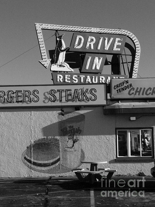 The Penguin Drive-in Print by David Bearden