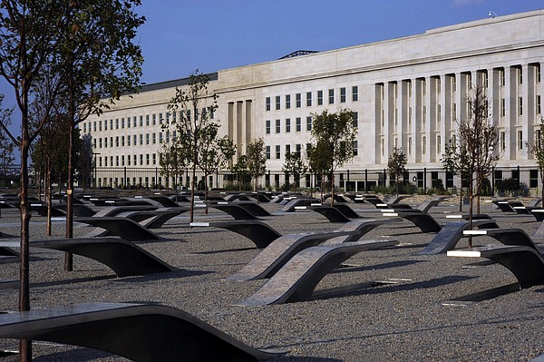 The Pentagon Memorial Honoring The 184 Print by Everett