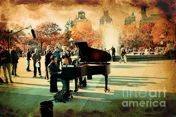 The Piano Man Print by Ken Marsh