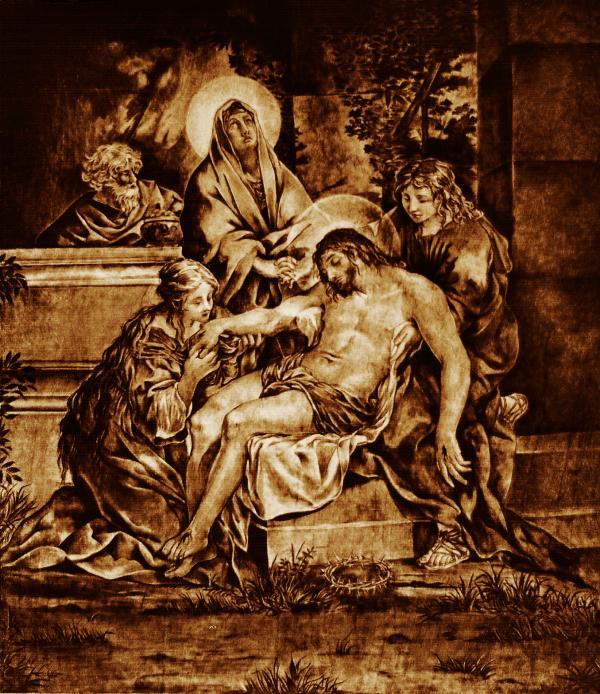 The Pieta Print by Dino Muradian