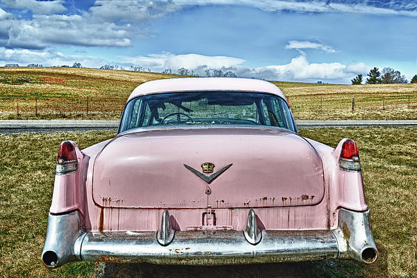 The Pink Cadillac Print by Kathy Jennings