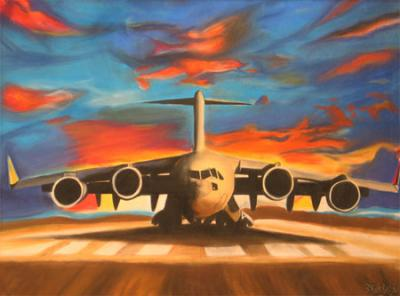 Plane Artwork on The Plane Painting By Unk Mexican Artist   The Plane Fine Art Prints