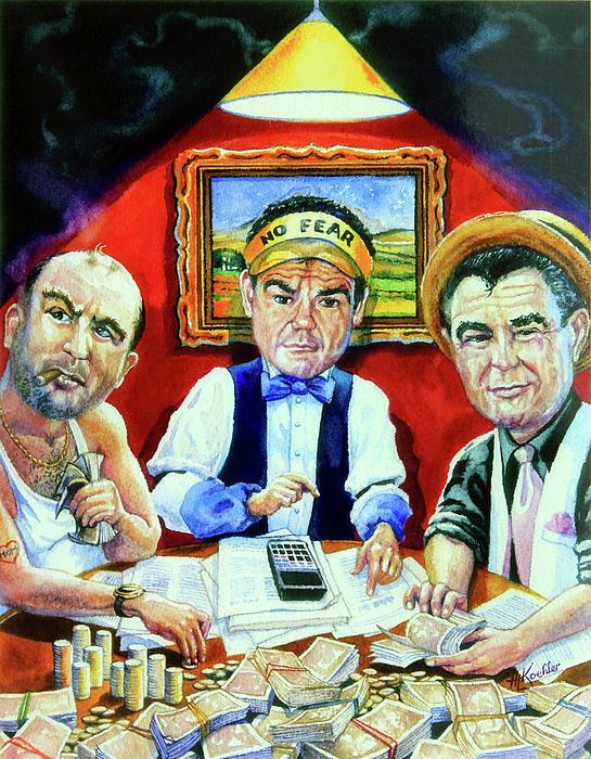 The Poker Game Print by Hanne Lore Koehler