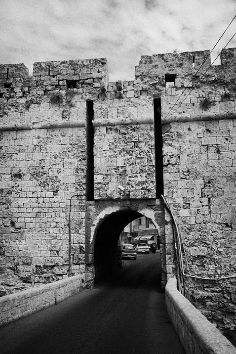 The Porta Di Limisso The Old Land Limassol Gate In The Old City Walls Famagusta Cyprus Print by Joe Fox