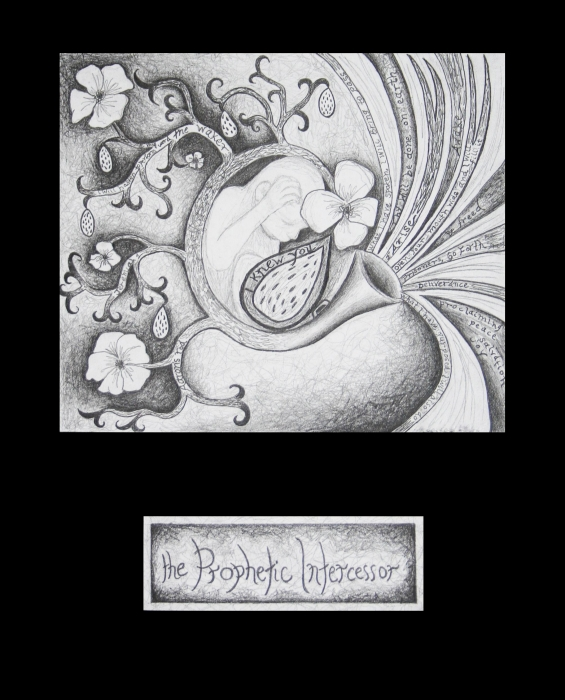 The Prophetic Intercessor Print by Amy Parker