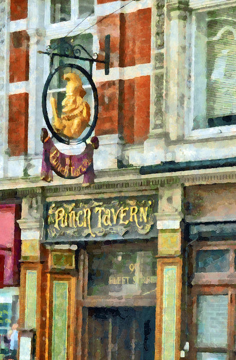 The Punch Tavern At 99 Fleet Street In London Print by Steve Taylor