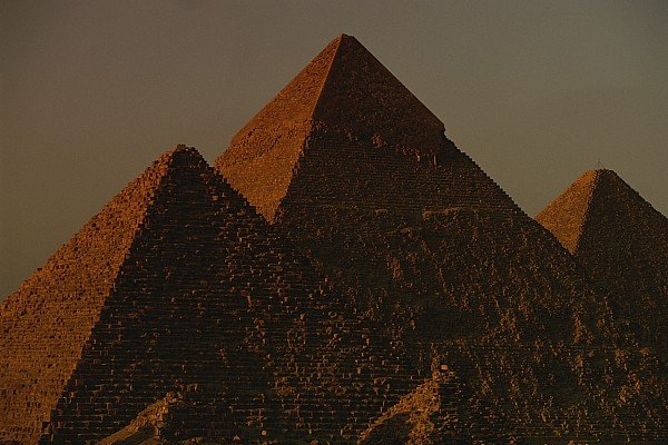 The Pyramids Of Giza In The Late Print by Kenneth Garrett