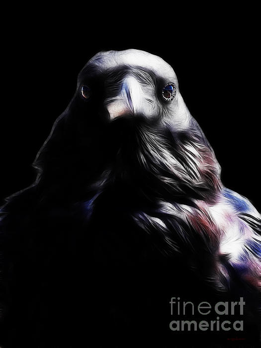 The Raven In My Dreams Print by Wingsdomain Art and Photography