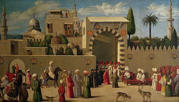 The Reception Of Domenico Trevisani In Cairo Print by Italian School