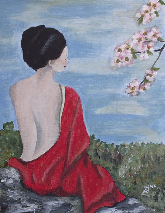 The Red Kimono Print by Kim Selig