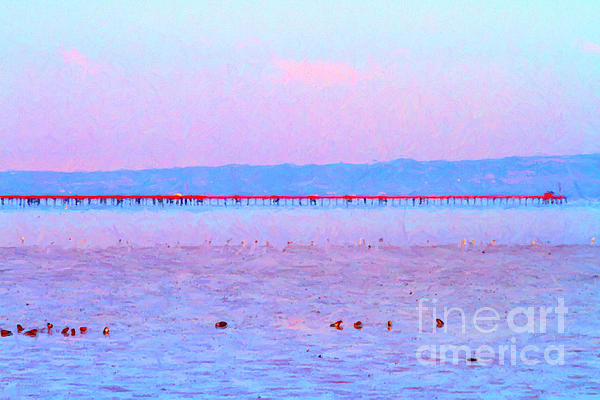 The Red Pier . 7d12310 Print by Wingsdomain Art and Photography