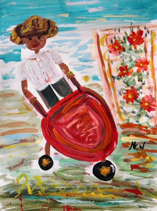 The Red Steel Barrow Painting  - The Red Steel Barrow Fine Art Print