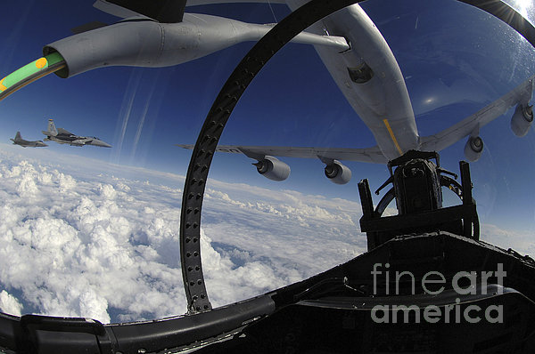 The Refueling Boom From A Kc-135 Print by Stocktrek Images