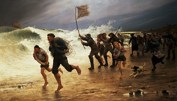 The Rescue Print by Maurice Poirson