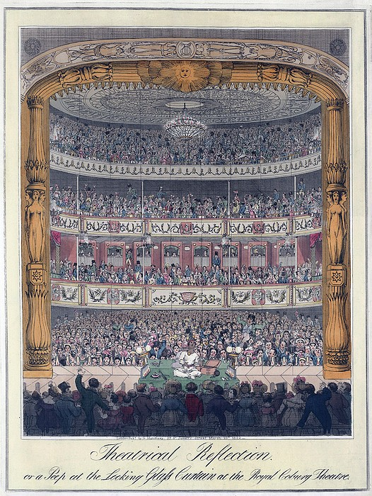 The Royal Coburg Theatre And Audience Print by Everett