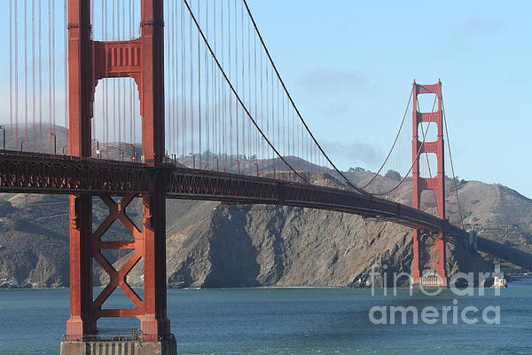 The San Francisco Golden Gate Bridge - 7d19184 Print by Wingsdomain Art and Photography