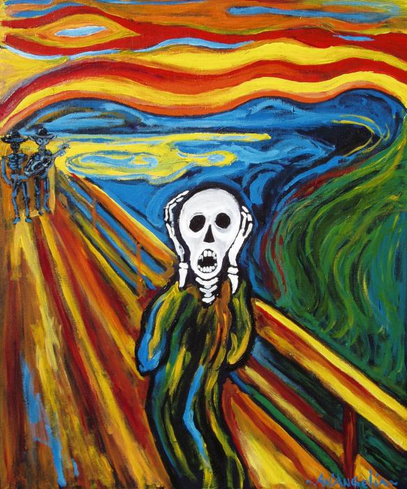 the scream painting The scream, 1893 by edvard munch courtesy of wwwedvardmunchorg: essentially this the 1895 pastel-on-board version of the painting was sold at sotheby's for a record us$120 million at auction on 2 may 2012.