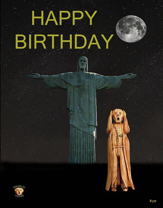 The Scream World Tour Rio Happy Birthday Print by Eric Kempson