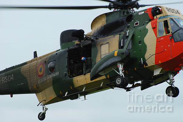 The Sea King Helicopter In Use Print by Luc De Jaeger