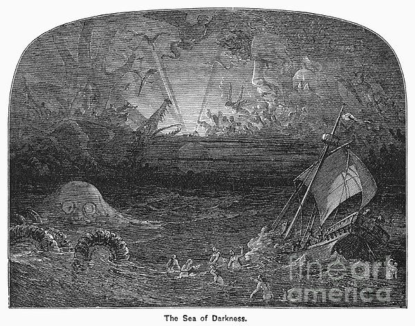 The Sea Of Darkness Print by Granger