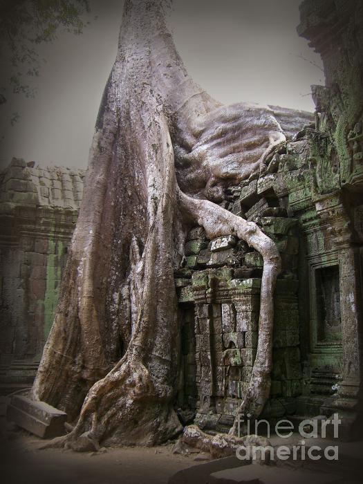 The Secrets Of Angkor Print by Eena Bo